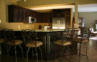 Lower level kitchen, custom made