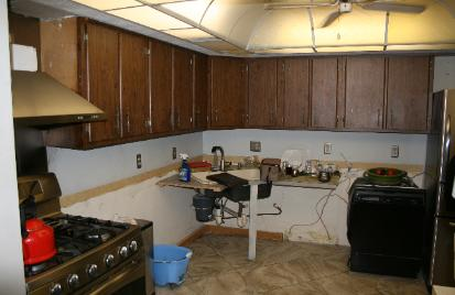70's style kitchen-before