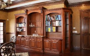 Custom home library/office/study
