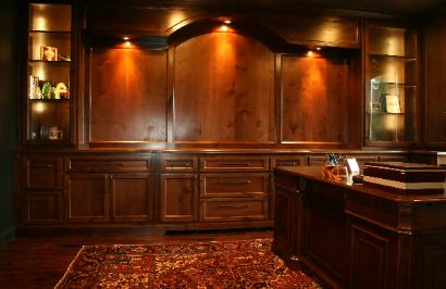 Solid wood custom home office