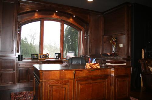 Solid wood home office